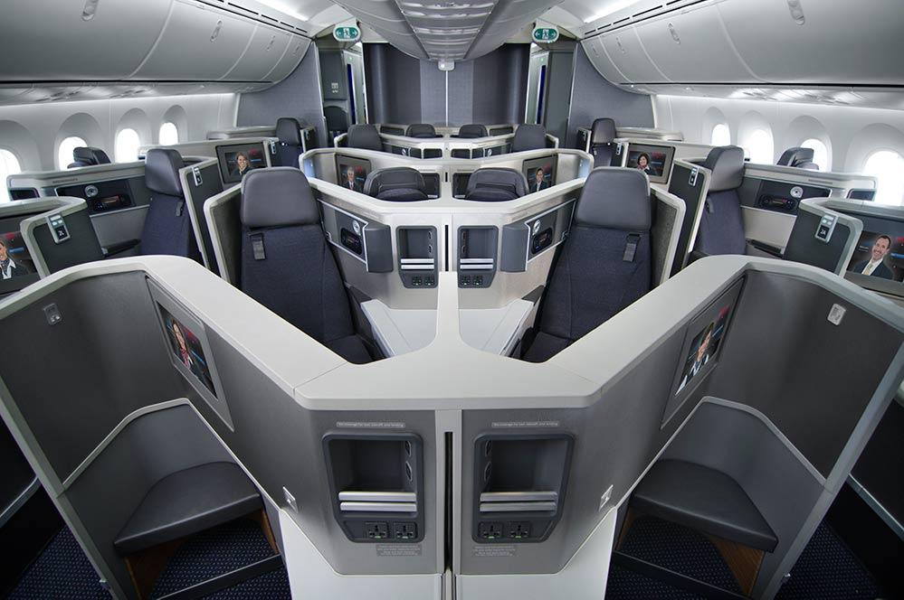 AA 787 Biz seat