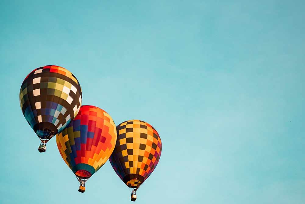 3つの気球