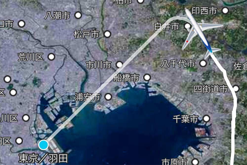 フライトルート 関東上空