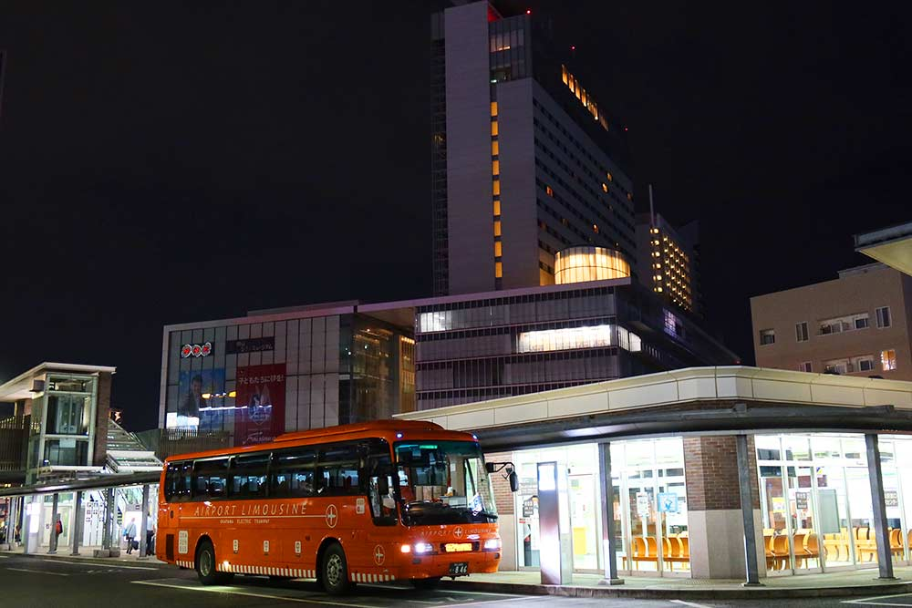 岡山駅西口空港バス乗り場