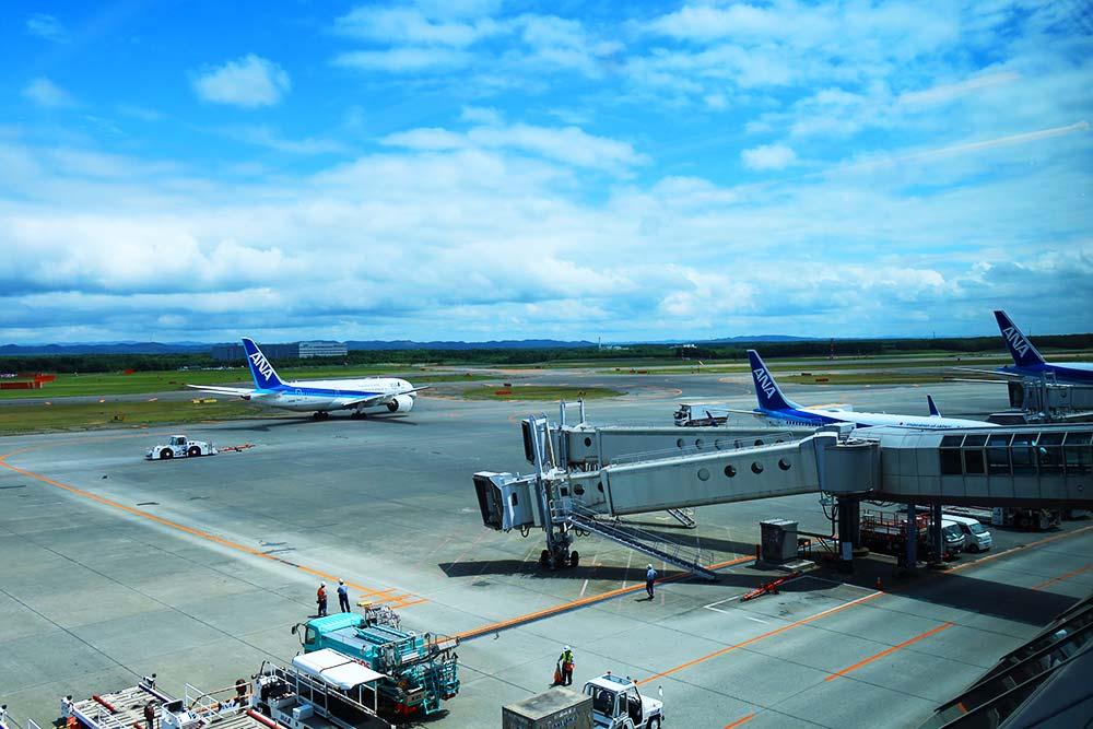 新千歳空港からの景色
