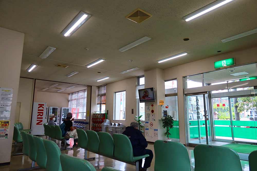 遠軽バスターミナル待合室