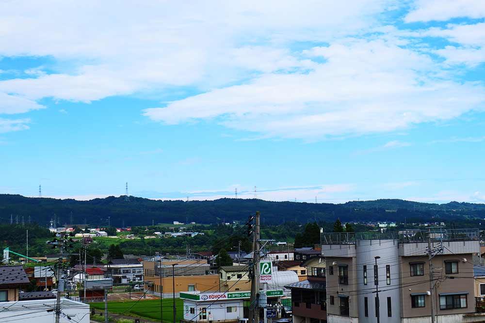 十日町駅からの景色