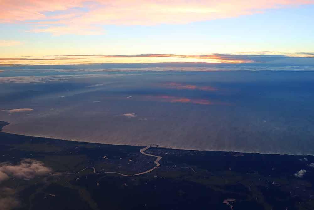 日没の日本海