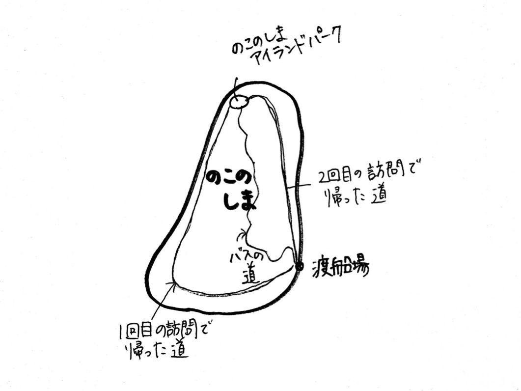能古島の手書き地図