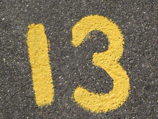 数字の13