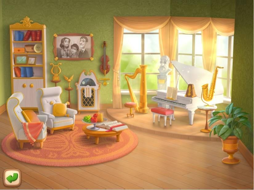ガーデンスケイプ 屋敷内の音楽室