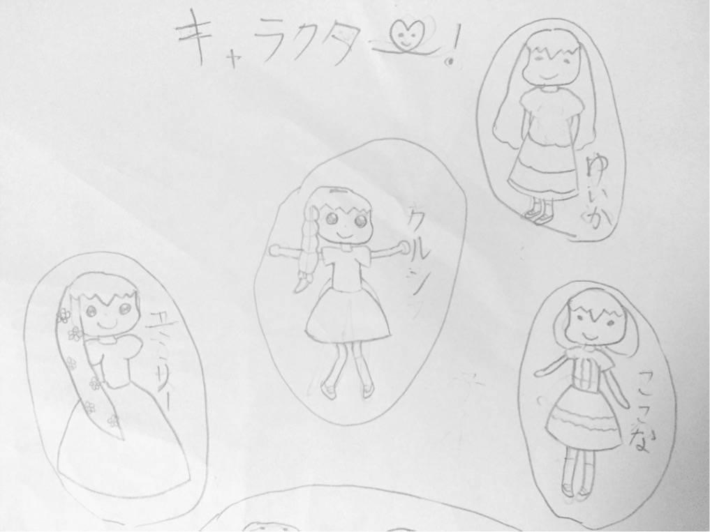 長女の4コマ漫画 キャタクターたち