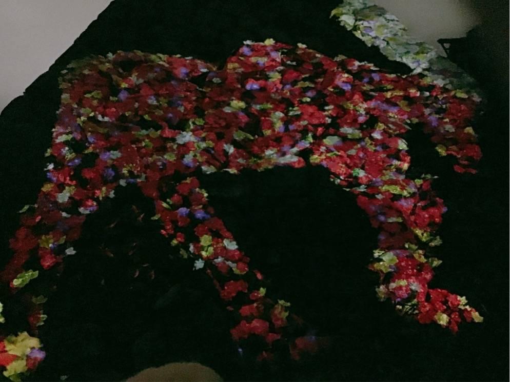 チームラボ 福岡城跡 光の祭 大天守台跡の石垣を使ったインスタレーション作品