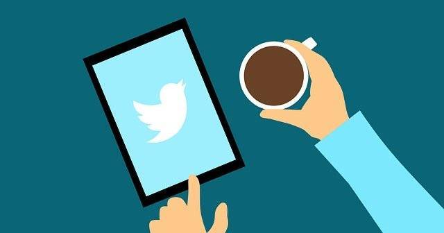 タブレット画面にTwitterのマーク
