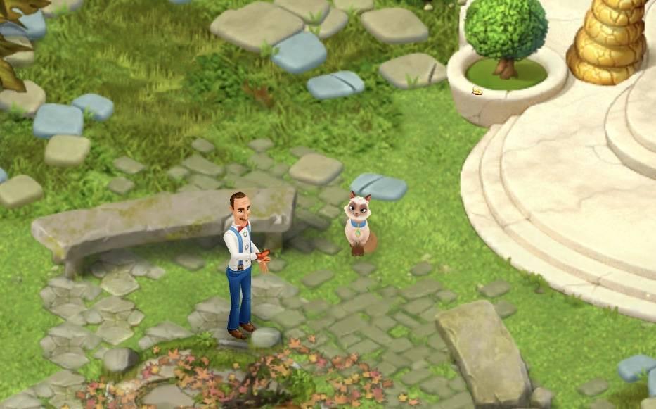 ガーデンスケイプ モフモフシーズンで課金してゲットした猫さまミッシー