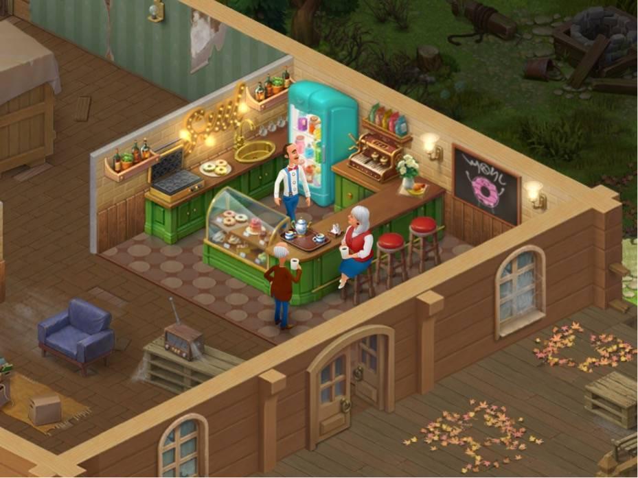 ホームスケイプ 秘密のカフェの右の部屋、ドーナッツのお店