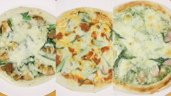 ピザ3種類の焼き上がり写真