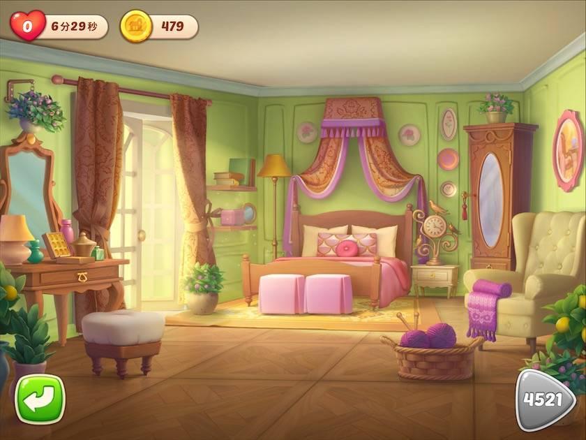 ホームスケイプ オリビアの寝室完成できなかった