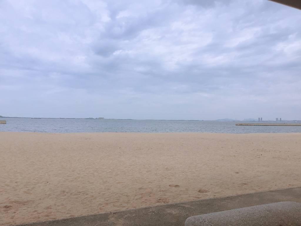 百道浜の海