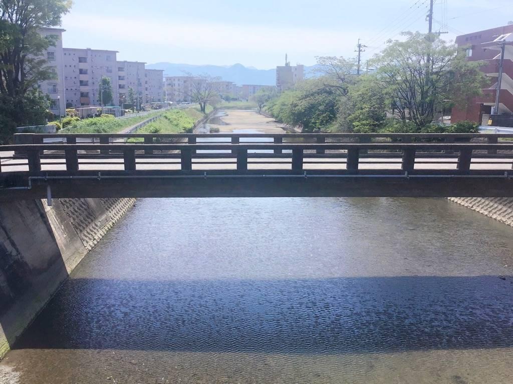 金屑川から南向きの写真