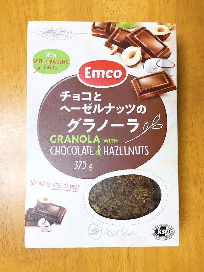 チョコとヘーゼルナッツのグラノーラ