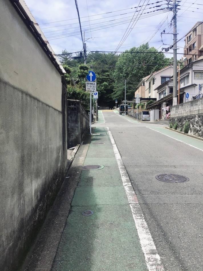 祖原公園へ行く坂道