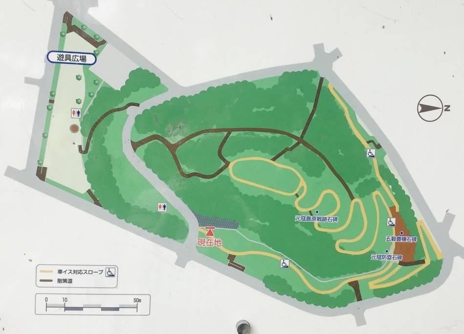 祖原公園のマップ