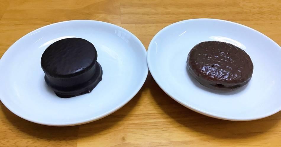 チョコクッキーサンドとチョコパイ