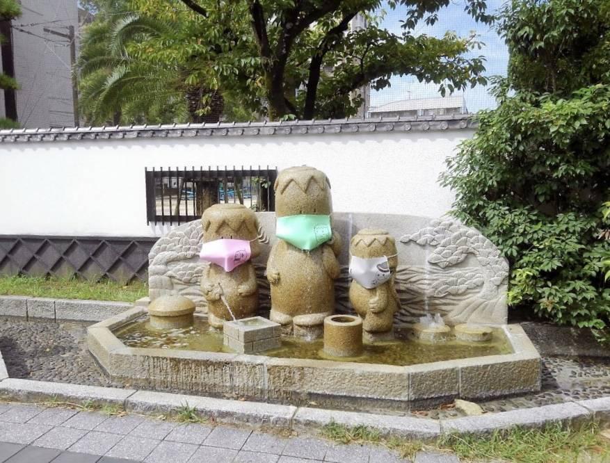 福岡市立当仁小学校の近くにある「せせらぎがっぱ」