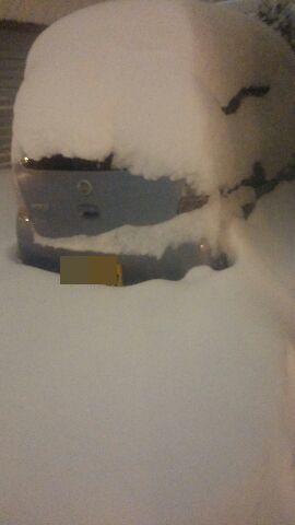 車に積もる雪