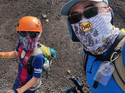 富士登山でBUFFをマスクとして使う