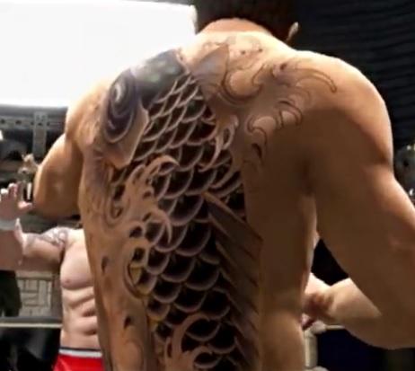 相沢聖人の刺青 黒鯉