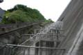 [ダム]この階段でダムの上まで登れるみたい。