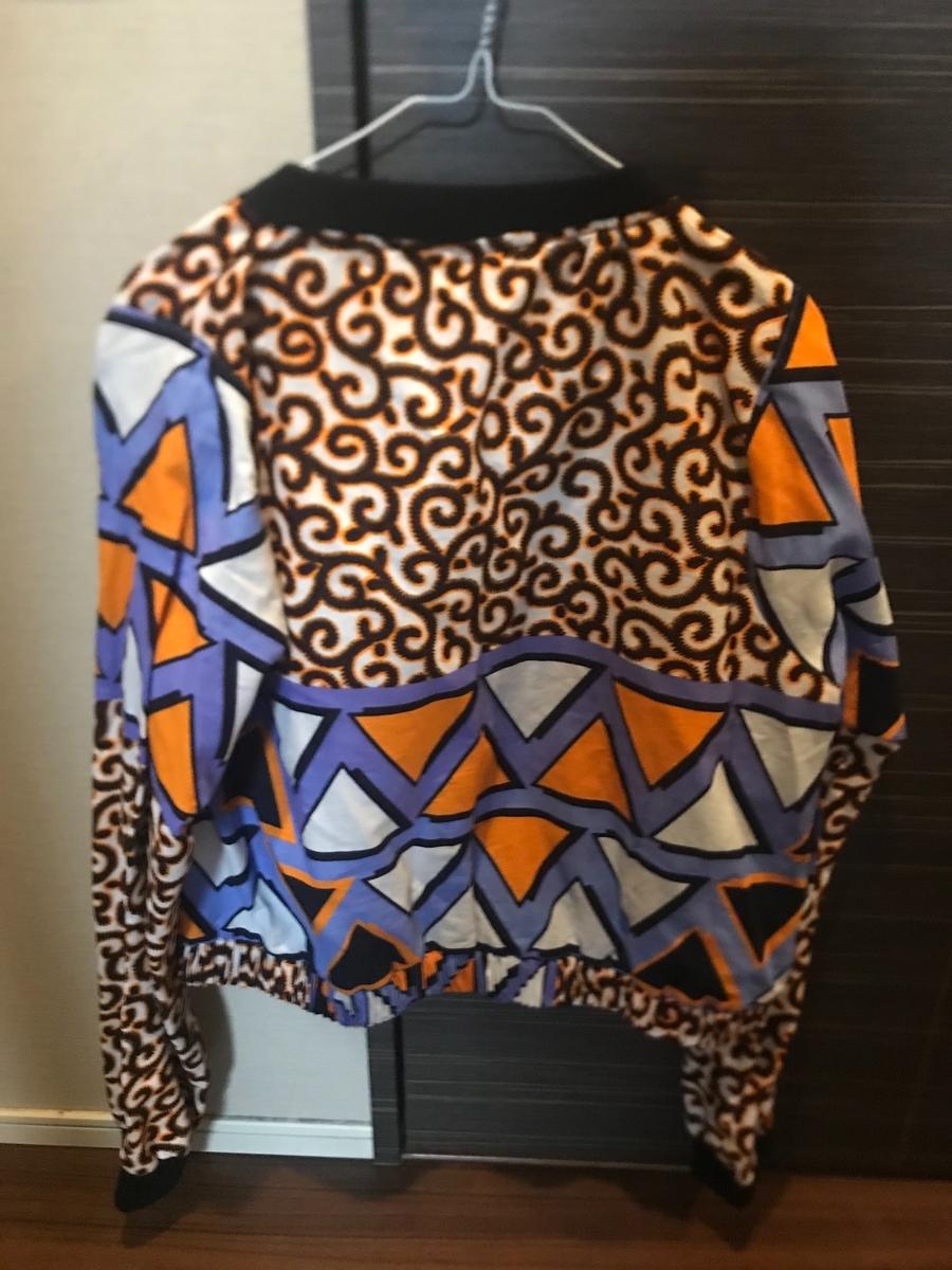 アカシアモールで購入したアフリカ布のジャケット