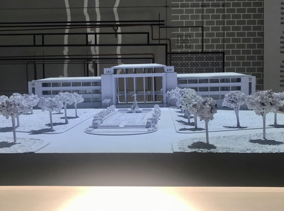 博物館の展示物。UPディリマンのペーパークラフト