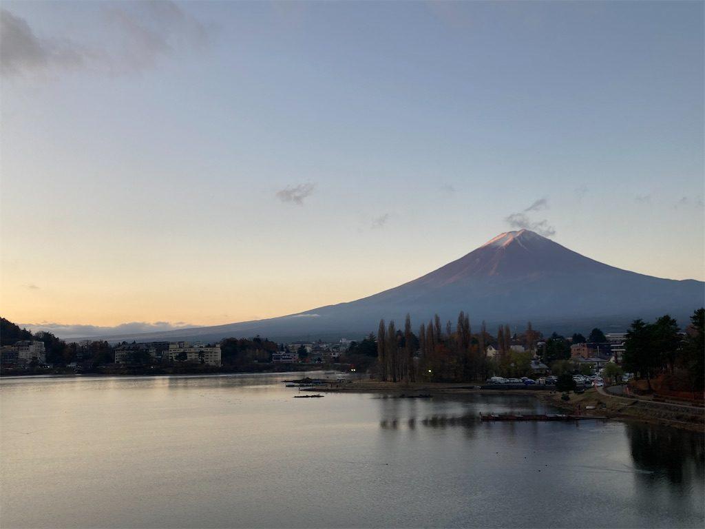 河口湖からの見た富士山