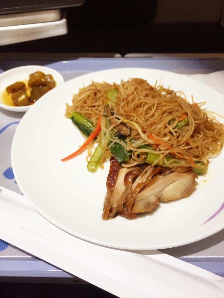 チャイナエアライン CI752 シンガポールSIN-台北TPE ビジネスクラス