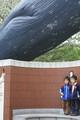 科学博物館入り口 シロナガスクジラ