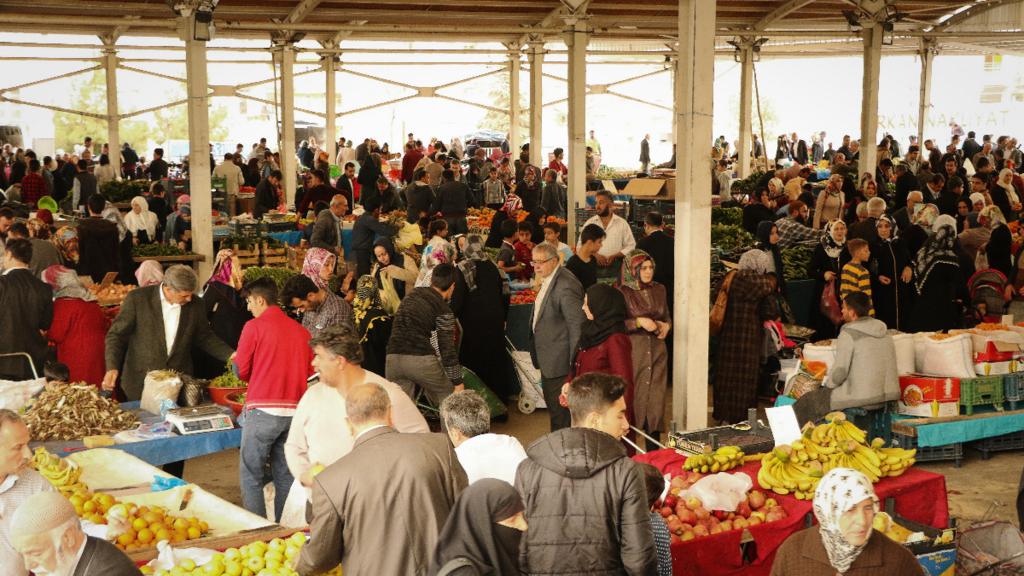 トルコの青物市場