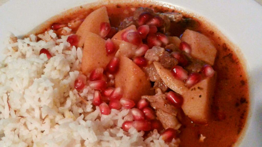 カリンとトマトのスープ
