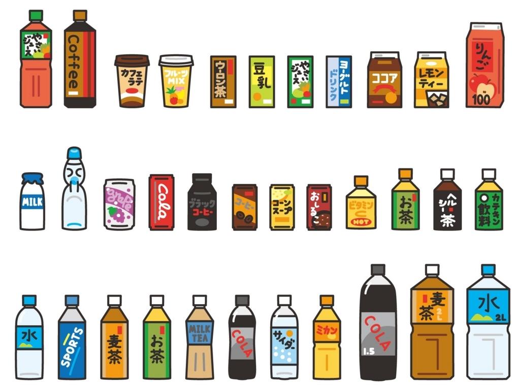 コンビニで販売中のペットボトル飲料各種