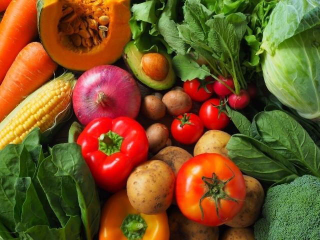 ビタミンが豊富な野菜類