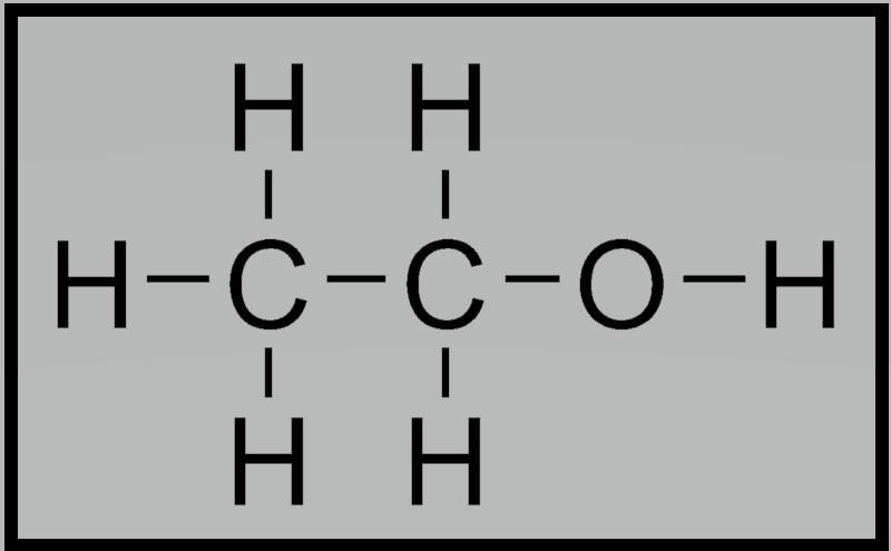 エタノールの構造式
