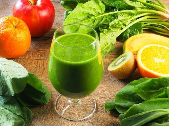 野菜とグリーンスムージー