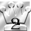 ランキング2位の王冠マーク