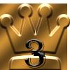 第三位の王冠マーク