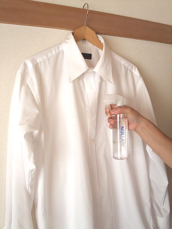 ヌーラ(NULLA)をシャツに噴霧