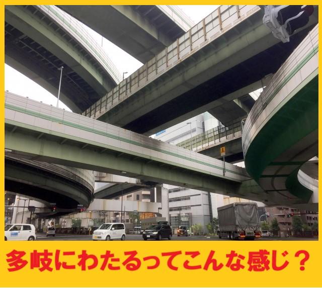 多岐にわたるをイメージした高速道路ジャンクション