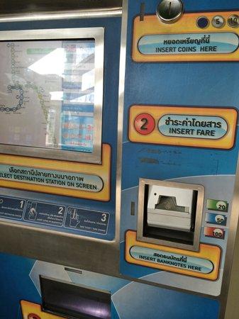 BTSサイアム駅の券売機