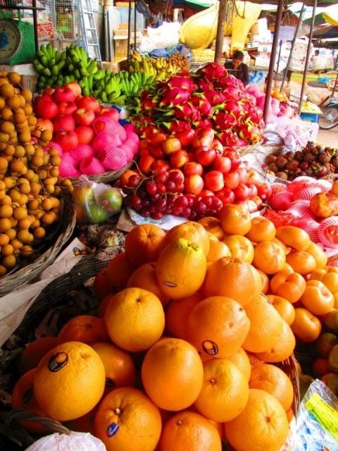 バンコクのフルーツ屋台