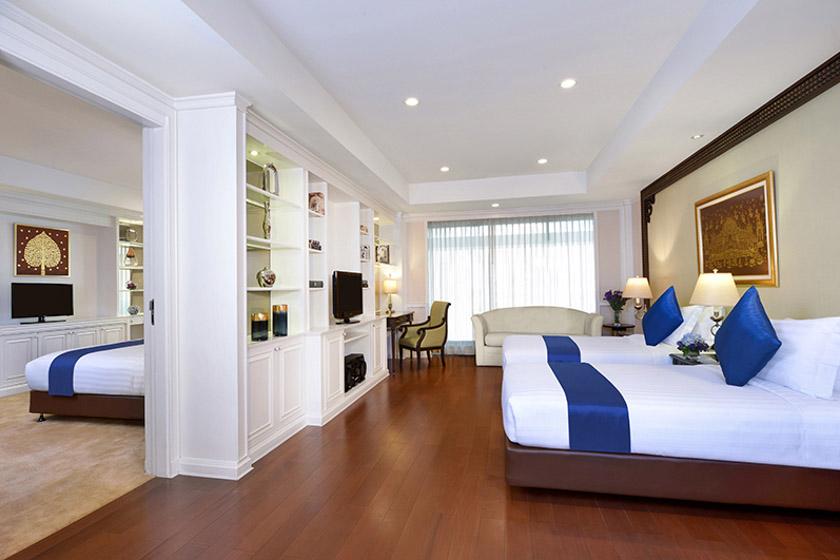 サービスアパートメントの寝室