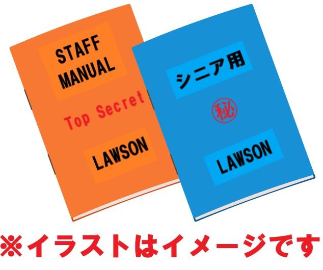 ローソンのマニュアルのイメージ。イラスト