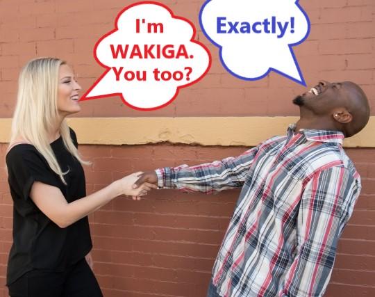 ワキガの白人女性と黒人男性が握手