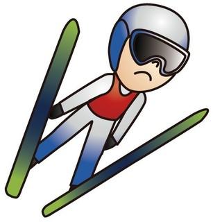 K点越えをするスキージャンパー